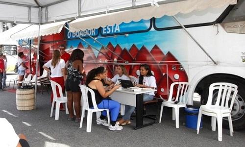 Resultado de imagem para Unidades móveis da Hemoba continuam em campanha para aumentar os estoques
