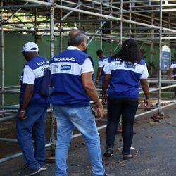 OPERAÇÃO PRÉ-CARNAVAL EMITE 104 NOTIFICAÇÕES SOBRE MONTAGEM DE ESTRUTURAS