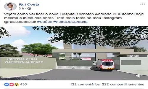 GOVERNADOR DIVULGA IMAGENS DO NOVO CLÉRISTON ANDRADE 2
