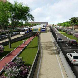 OBRAS DO BRT DESLOCAM PONTO DE ÔNIBUS NA AVENIDA ACM