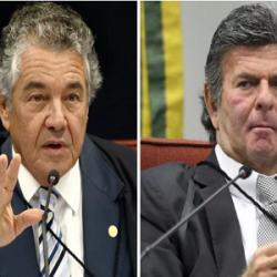 """BRIGA DE MINISTROS: """"SÓ FALTA QUERER ME PEITAR"""", DIZ MARCO AURÉLIO PARA FUX"""