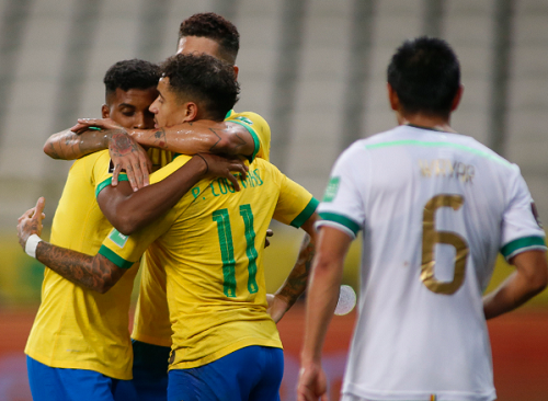 BRASIL ESTREIA NAS ELIMINATÓRIAS COM GOLEADA SOBRE A BOLÍVIA